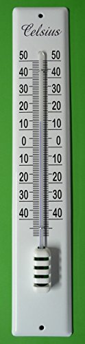 Emaille Email Thermometer Hauswandthermometer 40 cm