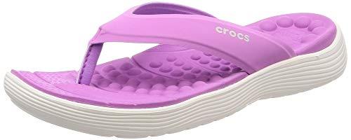 Crocs Damen Reviva Flip W Dusch- & Badeschuhe, Violett (Violet/White 592.), 37/38 EU