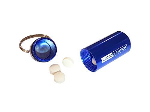 Lactosolution 15000 FCC 15 comprimidos con pastillero,lo mejor suplemento de la enzima lactasa para intolerantes a la lactosa