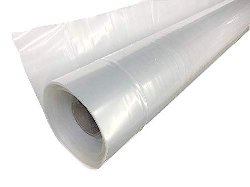 A&A Green Store Gewächshaus Kunststoff 4 Jahre 6 Mil Folie transparent PE-Abdeckung UV-beständig (1,5m breit x 8,5m lang)
