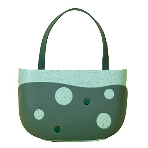 La bolsa colgante para fregadero de lunares almacena la cesta de drenaje, que se puede colgar en las baldosas en el baño, cocina, estantes de cocina, conveniente almacenamiento diario. Azul 14,5 x 5 x 9,5 cm.