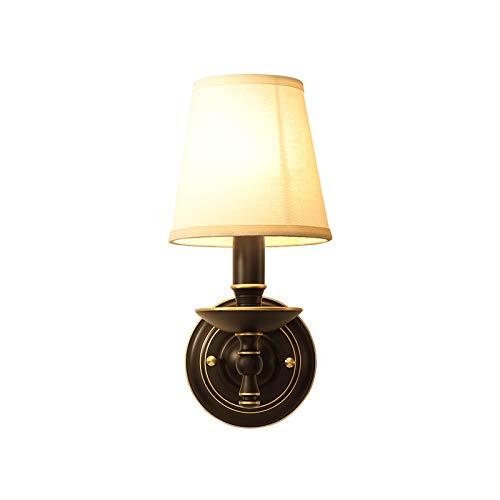 Aplique de pared Luz de lujo Lámpara de pared de cobre simple moderna Lámpara de pared negra moderna Decoración de la habitación Decoración de iluminación interior Lámparas para el dormitorio Estudio