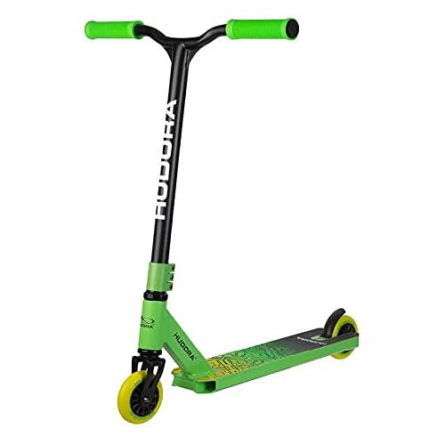HUDORA Stunt Scooter Kids - Patinete para niños, Color Verde