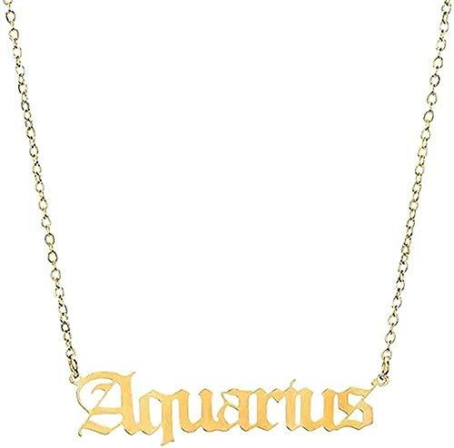 Collar Collar De 12 Constelaciones del Zodíaco para Mujeres, Hombres, Virgo, Libra, Escorpio, Sagitario, Capricornio, Acuario, Regalo De Cumpleaños