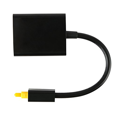Demiawaking Digital Optical Fiber Audio Kabel 1 Stecker auf 2 Buchse Splitter Adapter Schwarz