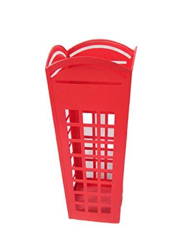 Decohouse Paraguero Original - Cabina Londres Rojo pasillos o recibidores - 24x50cm - Regalo Barato