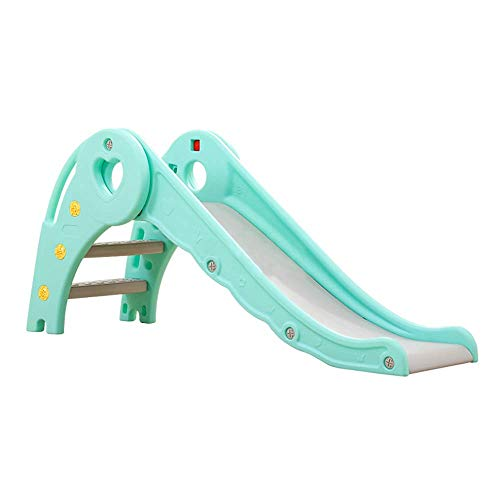 WDW Kids Childrens Foldable Slide Green Indoor Outdoor Garden Toy