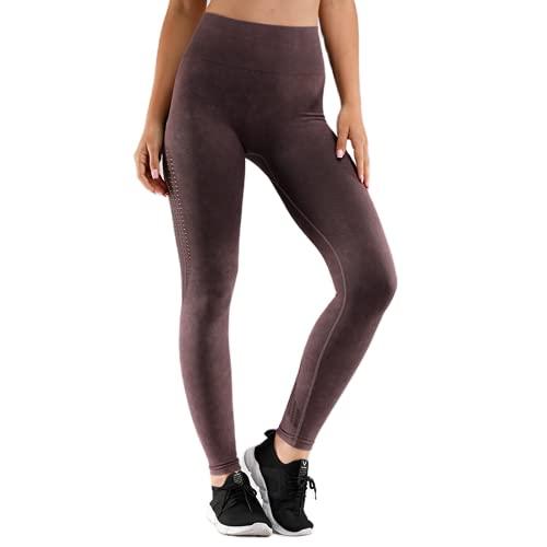 QTJY Pantalones de Yoga Retro para Mujer, Cintura Alta, Push-up, Ejercicio, Gimnasio, Mallas, Correr al Aire Libre, Celulitis, Pantalones Deportivos C M