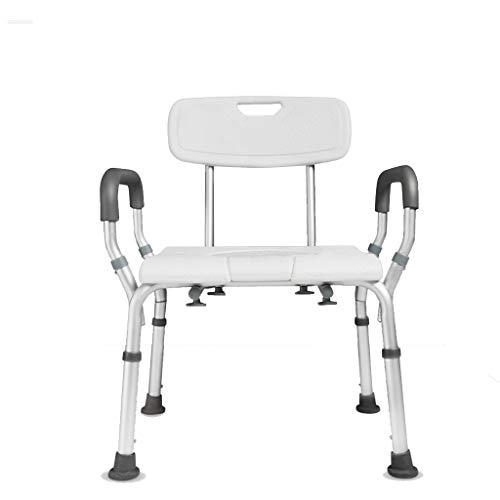 Minmin Silla de baño Aseo casa móvil for Las Mujeres Embarazadas for Adultos Mayores con discapacidad, cojinete de Producto 100 kg de Peso Inodoro móvil portátil (Color : White)