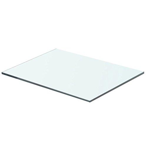 vidaXL Glasboden Glasscheibe Glasplatte für Glasregal Transparent 40 cm x 25 cm