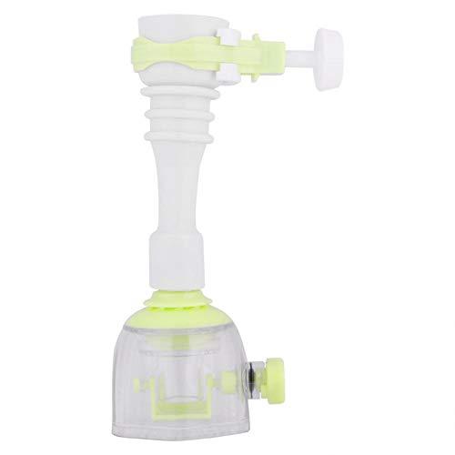 Uxsiya Grifo de cocina a prueba de salpicaduras, flexible ABS movible ahorro de agua extensión spray grifo de la cocina para el hogar (verde, 13cm)