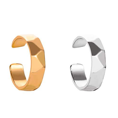 14K gold plated Without Pierced Ear Bone Folder Punk Fashion Ear Cuff Wrap Rhinestone Cartilage Clip On Earring Non Piercing Jewelry