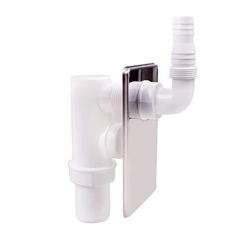 Unterputzsiphon Siphon Wandeinbau Unterputz Sifon für Waschmaschine Geschirrspüler 40mm Anschluss 19-53mm