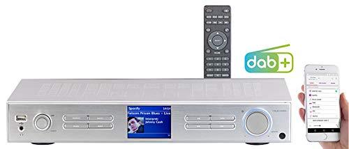 VR-Radio Receiver: WLAN-HiFi-Tuner mit Internetradio, DAB+, UKW, Streaming, MP3, Silber (Netzwerk Radio)