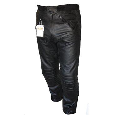 Bikers Gear Pantalón de cuero estilo motero