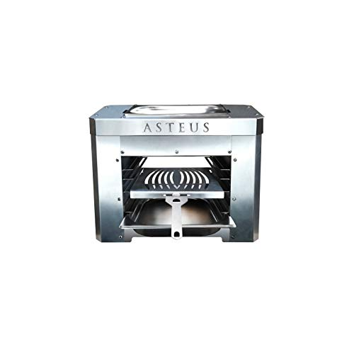 Asteus 4260293725394 Steaker V2 - Elektro Infrarotgrill, Silber, 45 x 25 x 34 cm