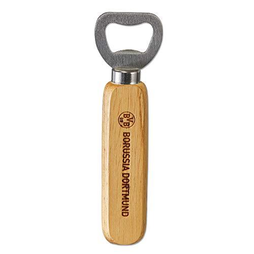 Borussia Dortmund Unisex Bvb-flaschenöffner mit Holzgriff Flaschenöffner, 10cm