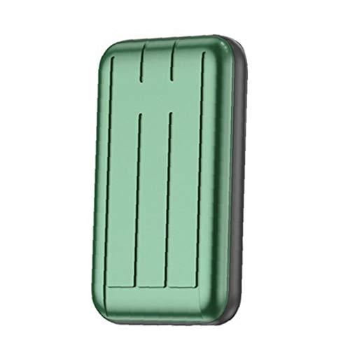 Cargador inalámbrico cargador rápido banco de la energía mini portátil de 5000mAh el Powerbank batería verde