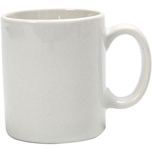 Taza de 7 x 6 cm, color blanco, 1 unidad.
