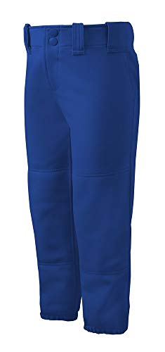 Mizuno Adult Women's Belted Low Rise Fastpitch Softball Pant, Royal, X-Small