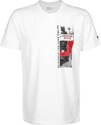 New Era NBA Photo Print tee Chibul OTC Camiseta de Manga Corta, Hombre, White, XS