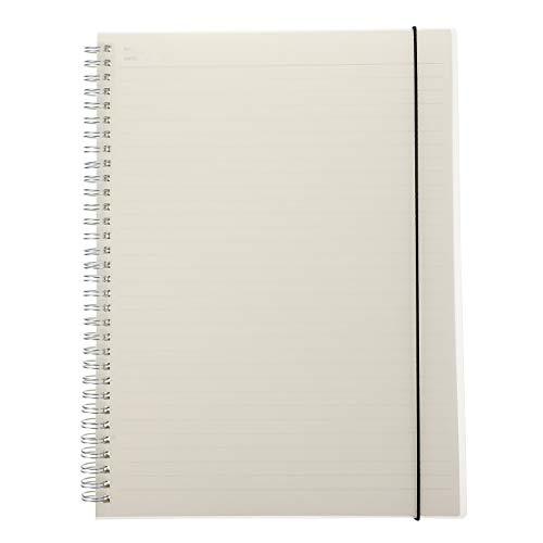 Yardwe Cuaderno Práctico Creativo Cuaderno con Tapa Esmerilada Transparente Cuaderno en Espiral Diario Moderno Simple para Niños (Horizontal)