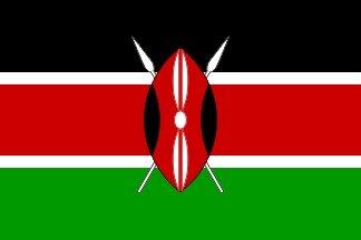 Kenya Drapeau 5' x 3'
