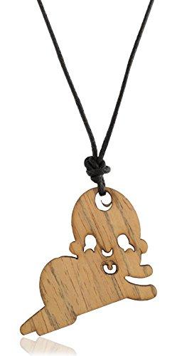 Modish Look marrón madera nuevo nacido Bebé colgante con rosca para mujer;...