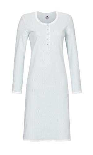 La plus belle Damen Nachthemd mit Knopfleiste helle Lagune 38 9581006, helle Lagune, 38