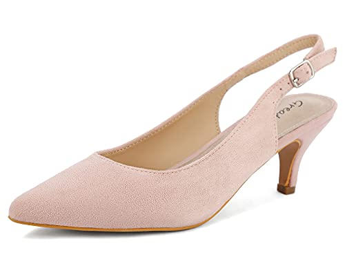 Greatonu Chaussures à Talons Pure Color Rose Espigones...