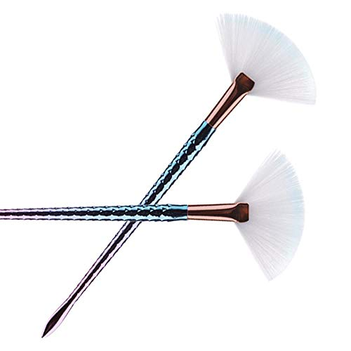 Enkele kleine zeemeermin Resterende Schilderij Vis-achtige Fan-Shaped Brushing Cosmetic Tool