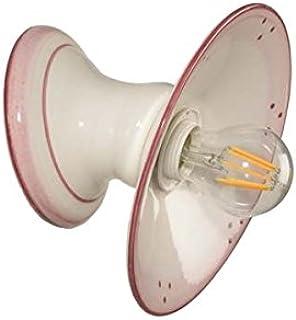 VANNI LAMPADARI - Lampada Da Parete art.001/387 In Ceramica Decorata A Mano Piatto Diametro 20 Lisco Disponibile In 5 Fini...