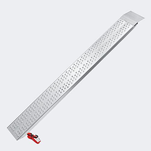 Wiltec Rampa di carico Ripiegabile in Alluminio per Moto e Quad 160cm 270kg