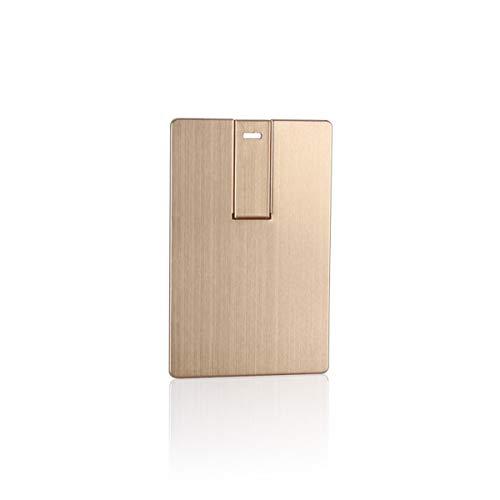 Laak USB-Speicherstick, 32 GB, USB 3.0, Hochzeits-Geschenk, Visitenkartenform, Kreditkarten-Form Gold Gold 8GB