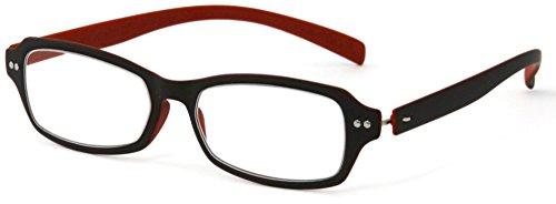 デューク 老眼鏡 +1.5 度数 ネオクラシック 超軽量フレーム ソフトケース付き マットブラウン オレンジ GLR01-7+1.50