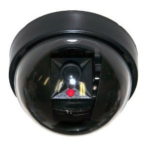 VideoSecu 4 Pack Dummy Fake Security CCTV Dome Cameras with Flashing Red LED Light Cost-Effective Surveillance Imitation Simulated Dome Camera WE5