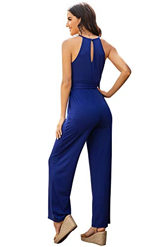 ILLI LONDON Women's Maxi Jumpsuit (Royal Blue, Medium)