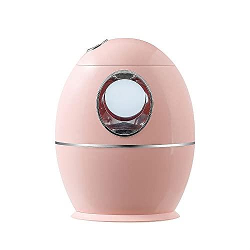 SCIDS Humidificador Ultrasónico Vapor Frío Inteligente Silencio 800 Ml Difusores De Aceite Perfumado Difusor Aroma ,Neblina Agua Micrones,Tres Modos Pulverización,Luces Colores (Color : Pink)