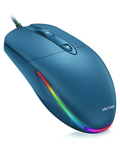 Jelly Comb USB Wired Mouse,RGB Optical Silent Computer...