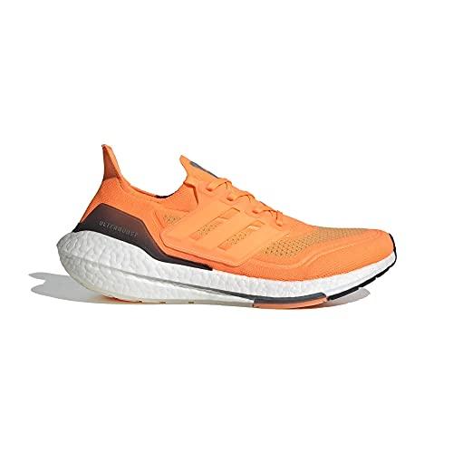 adidas Ultraboost 21, Zapatillas para Correr Hombre, Screaming Orange/FTWR White/Blue Oxide, 42 2/3 EU