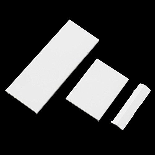 Remplacement Memeory Porte Carte Couvercle de la Fente Couvercle 3 Pièces Couvre Porte pour Nintendo Wii Console Système Blanc