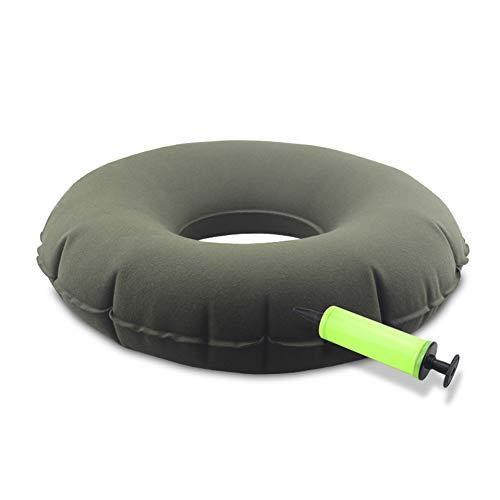 Yulo El Cojín Anti-Decúbito Inflable Donut Ring Alivia El Dolor Y La Presión De Las Hemorroides con La Bomba,Verde,A