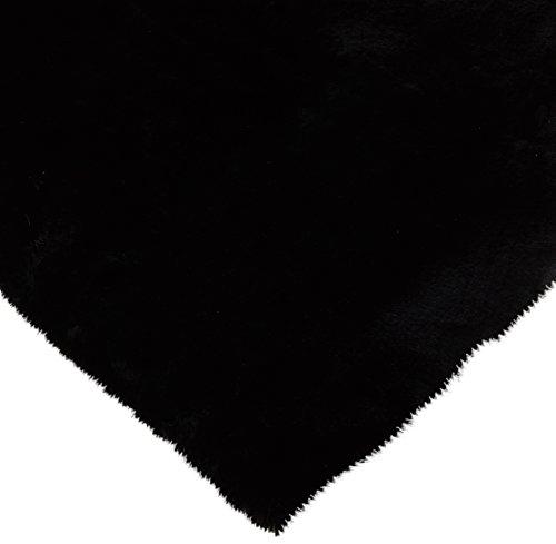 CRS Fur Fabrics Super Luxe Fausse Fourrure Tissu Matériau – en Peluche Super Doux Noir