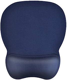 EooCoo Muismat ergonomische met polssteun Gel Pad en non-Slip Silicone Basis voor Kantoor Laptops - Marineblauw