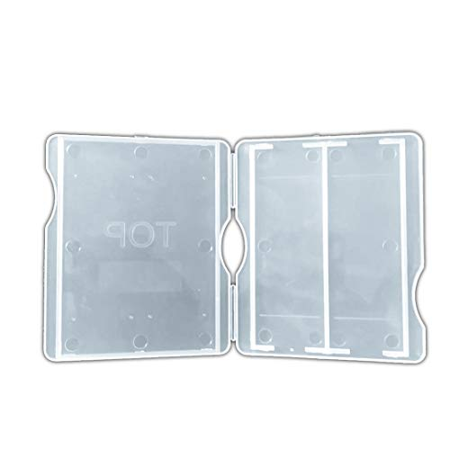 Laboratory Plastic Microscope Glass Holder Slide Box 10Pcs (Each Hold 2pcs Slides)