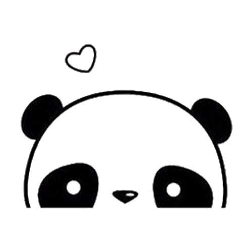 A/X Kawaii Vinyl Car Sticker 16x12 4cm Cute Hidden Panda Decal Fashion Interesting Stickers Car Accessories-Orange