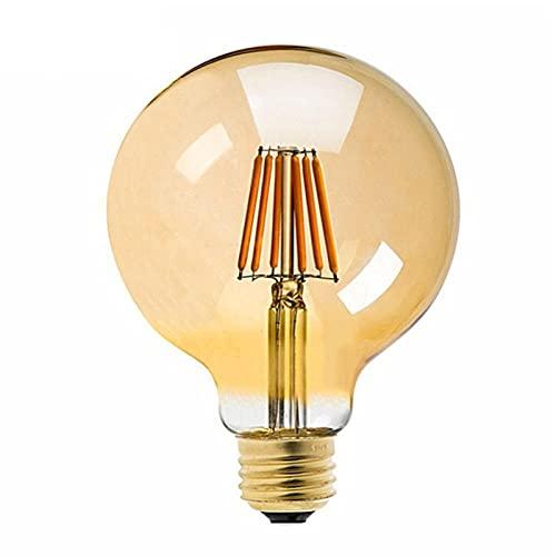 Bombillabombilla De Filamento Led Retro Luz De Atenuación Bombilla Redonda Lamp-8W_2200K_E26_110V