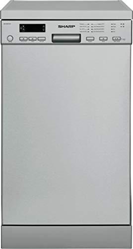 Sharp QW-S22F472I-DE / Geschirrspüler freistehend 45 cm / A++ / 10 Maßgedecke / 8 Programme / Startzeitvorwahl / 9 L Wasserverbrauch / Höhenverstellbarer Oberkorb / AquaStop / edelstahl