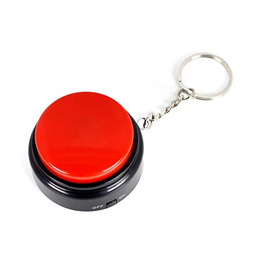 Sound Button with Keychain-Voice Recording Button Small Easy Button Funny Gift with Good Sound Quality