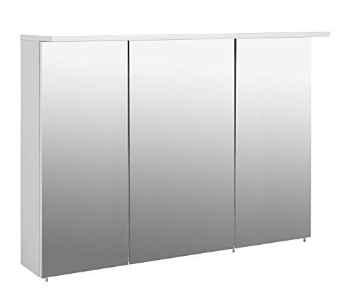 Schildmeyer Spiegelschrank, Melaminharzbeschichtete Spanplatte, weiß, 120.5 x 16 x 72.5 cm